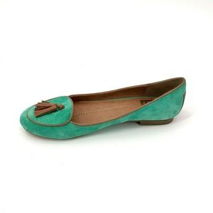 Dolce Vita Slip On Loafers Flats Green Suede 8